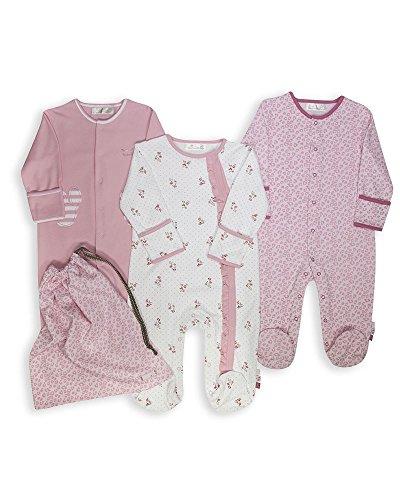The Essential One -Baby Mädchen Schlafanzuge/Schlafanzug/Einteiler/ Strampler (3-er Pack mit Beutel) Rosa - 62/68cm - ESS125