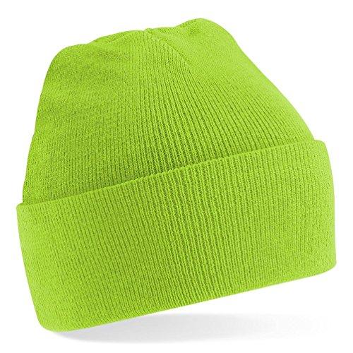 Beechfield Umschlagmütze Lime Green Einheitsgröße (Green Jungen-lime)