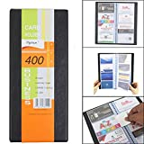 #4: TREELY Multipurpose Professional Business Card Book, Card Holder, Capacity for 400 Cards, Black