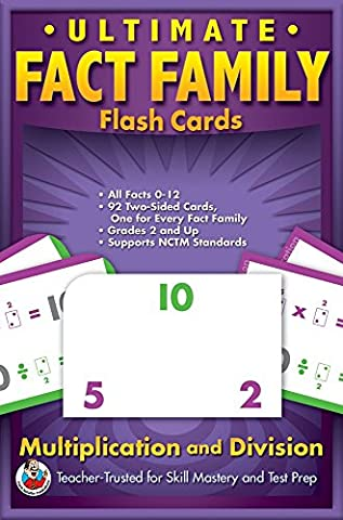 Ultimate Fact Family Flash Cards, Grades 3 - 5: Multiplication and Division by School Specialty Publishing (29-Dec-2007)