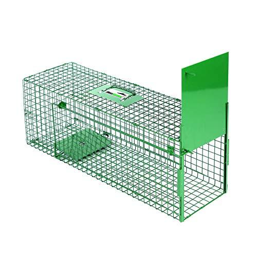 Maxx Trappola di Cattura infallibile-Pieghevole-Gabbia-per Piccoli Animali: Conigli, ratti, roditori-80x 25x 30cm-con Due ingressi