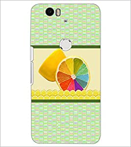 PrintDhaba Colourful Leamon D-3778 Back Case Cover for HUAWEI NEXUS 6P (Multi-Coloured)