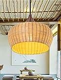 LXSEHN Moderne Garten einfache und kreative Bambustee Wohnzimmer Restaurant Konferenzraum Kronleuchter Pendelleuchte Lampenlaternen