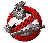 Don't Touch My Bike! Aufkleber Sticker JDM Hoonigan Tuning Oldschool Hardcore Baseballschläger Simson Moped Motorrad Racing Sport