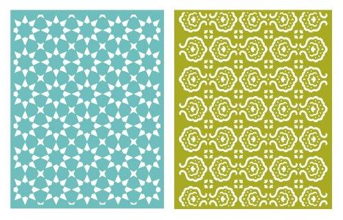 Quickutz We R Memory Keepers Tile 2er Pack Prägeschablone für Scrapbooking -