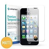 smartect iPhone 4 / 4s Panzerglas MATT - Displayschutz mit 9H Härte - Blasenfreie Schutzfolie - Anti Fingerprint Panzerglasfolie