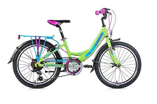 """20\"""" Zoll Alu LEADER FOX Lassie Kinder Mädchen MTB Fahrrad SHIMANO grün RH31"""