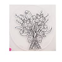 bhty235 Natural DIY Large Transparent Stamp Clear Silicone Rubber Seal Stamp for DIY Album Scrapbooking Photo Card Decor