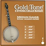 Gold Tone 5-String Cello Banjo Strings, Medium Gauge