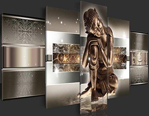 murando Cuadro de cristal acrílico 200x100 cm 5 Partes - 2 tamanos opcionales - Cuadro de acrílico TOP Cuadro - Impresion en calidad fotografica – Buda h-C-0034-k-m 200x100 cm 7