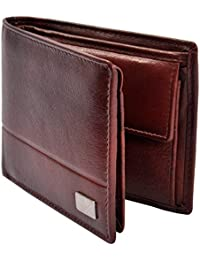 Am Leather Bi-Fold Brown Genuine Leather Hand Crafted Wallet For Men and Boys