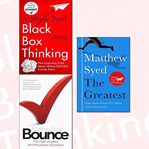 black box thinking, bounce and the greatest 3 books collection set - marginal gains and the secrets of high performance, the myth of talent and the power of practice, what sport teaches us about