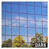 Buy film One way specchio argento pellicola finestra pellicole per vetri Serie sono altamente riflettenti che migliorano daytime privacy. Se la finestra di one way specchio film viene installato su una finestra, dà la finestra a specchio, veste rifle...