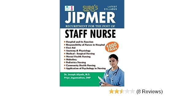 Buy JIPMER Staff Nurse Exam Books Book Online at Low Prices