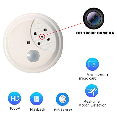 Versteckte Kamera,1080P Full HD Bewegungserkennung Security Camera System with IR Cut support Night Vision,Akku Powered Hidden Camera | Long Standby Time Batterie-powered-video