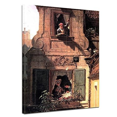 Leinwandbild - Carl Spitzweg - Der abgefangene Liebesbrief - 30x40cm