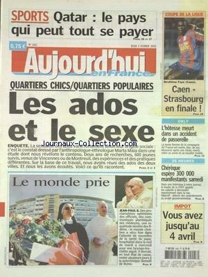 AUJOURD'HUI EN FRANCE [No 1162] du 0...