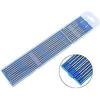Electrodos de soldadura, 10pcs Electrodos de soldadura de tungsteno Electrodo de Lanthanated Punta azul 1.0/1.6/2.4mm(1.6 x 175mm)
