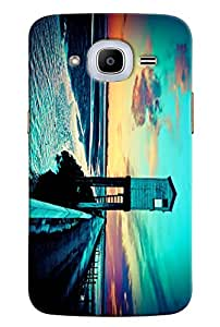 Omnam Sea Tower Printed Designer Back Cover Case For Samsung Galaxy J2 2016