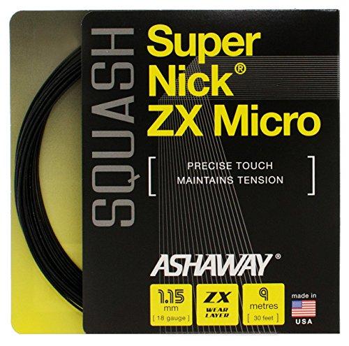ASHAWAY SuperNick ZX Micro Squash Saite Set Test