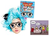 Anime Eyes Brille Partybrille & Postkarte