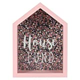 Jones Home and Gift Something Different Wholesale Florella House Fund Ornament, Pink