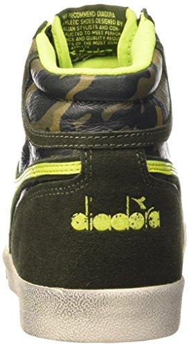 Diadora Condor C, Chaussures Mixte Adulte Verde Petrolio/Verde Acido