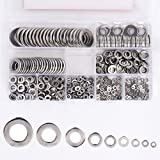 DIY Crafts 600 PCS 304 Stainless Steel Flat Washer Assortment Set, 9 Size - M2,M2.5,M3,M4,M5,M6,M8,M10,M12