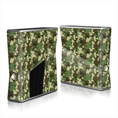 mygift-woodland-camo-design-protector-skin-decal-sticker-for-xbox-360-s-game-console-full-body