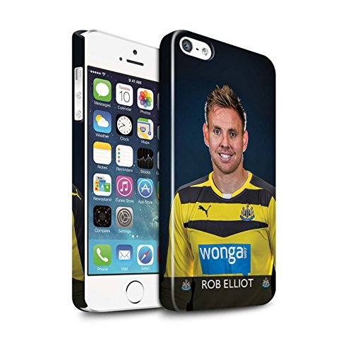 Offiziell Newcastle United FC Hülle / Glanz Snap-On Case für Apple iPhone 5/5S / Pack 25pcs Muster / NUFC Fussballspieler 15/16 Kollektion Elliot