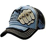 UFACE Stickerei-Buchstabe-Faust-Niet-Baseballmütze-Visier Sommer-Niet-Kappen-Hüte für Männer Frauen (Schwarz)