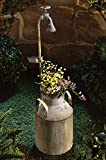 Pflanzgefäß Milchkanne + Solarleuchte Blumenkasten Blumenkübel Pflanzengefäß Solarlampe Gartendeko Pflanzkasten Pflanzkübel Deko Gartensolarlampe Gartensolarleuchte