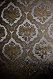 Vinyl Tapete Barock Retro # silber/gold # Fujia Decoration # 22915