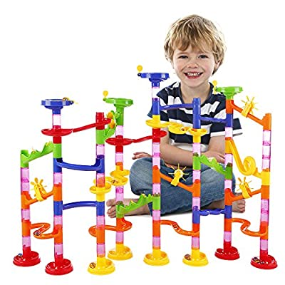 Marble Run Railway Toy BATTOP Marble Run Coaster Railway Construction Child Building Blocks DIY Game for Over 4 Years Old Kids from Dking