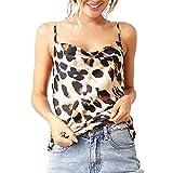 MarryoU Damen ärmellose T-Shirt V-Ausschnitt übersteigt Bluse Leopard Drucken Weste Top Sommer Tank Tops Bluse Ärmellos Reizvolle Neckholder Sommer Oberteile Trägertop