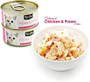 Kit Cat Deboned Chicken & Prawn Toppers Canned Cat Food 80g