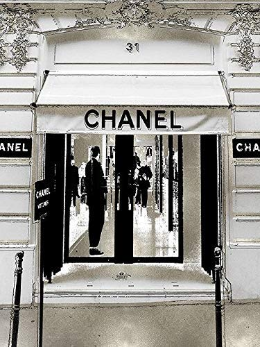 Rahmen-Kunst Keilrahmen-Bild - Madeline Blake: Designer Entrance II Leinwandbild Mode-Boutique Laden Fashion Chanel modern