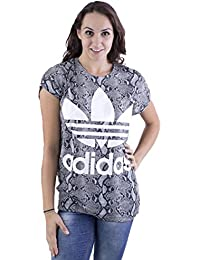 adidas - T-shirt - Femme Marron Marron