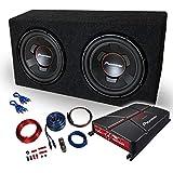 Mediadox/Pioneer Kit de Basses 4 canaux avec amplificateur et Caisson de Basses 2 x...