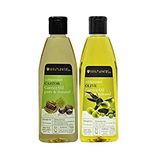 Soulflower Coldpressed Castor and Olive Carrier Oil, 450ml