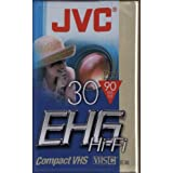 JVC Cassette VHS-C 30 minutes EHG Qual.High grade