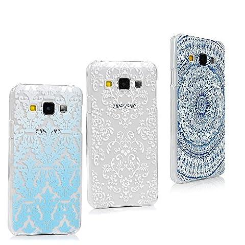 Galaxy A3Fall–Lanveni Bumper Schutz Fall mit Front Cover Slim Ultra Fit für Samsung Galaxy A3Smartphone PC klar Handy Pocket Blue/White/Navy Blue