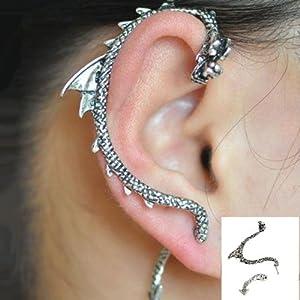 1 pc Gothic Punk Game of Thrones Dragon Ear Cuff Stud Earring
