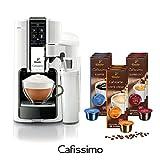 Tchibo Saeco Cafissimo Latte Kaffee Kapselmaschine inkl. 90 Kapseln, Bianco