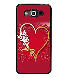 printtech Heart Ribbon Flower Love Back Case Cover for Samsung Galaxy Grand 3 G720::Samsung Galaxy Grand Max G720