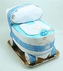 Idea Regalo - Torta di Pannolini Chicco Carrozzina Azzurra