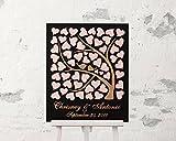 Custom Gästebuch für Hochzeit 3D Holz Hochzeit Ideen Hochzeit Geschenke für das Paar Baum Herzen Hochzeit Gästebuch für Braut 40x 60cm