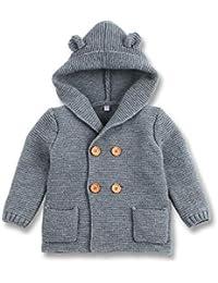 mimixiong Bebé niño de Abrigo Capa Chaqueta otoño Invierno Encapuchados Ropa Caliente