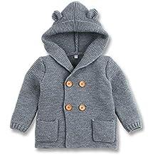 a49f1641a1a mimixiong Bebé niño de Abrigo Capa Chaqueta otoño Invierno Encapuchados Ropa  Caliente