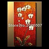 Hohe Qualität handbemalt Landschaft abstrakt Palette Weiß Tulpen Bouquet Wandbild Ölgemälde House Living Room Art, canvas, weiß, 32x64inch(80x160cm)